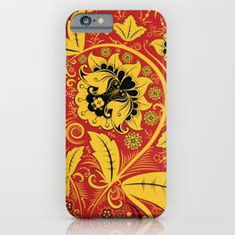 Russian traditional folk iPhone Case