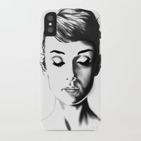 audrey hepburn iPhone & iPod Cases featuring Audrey Hepburn by Geryes