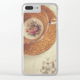 Two Teacups Clear iPhone Case