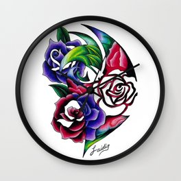 Roses Roses Roses Wall Clock