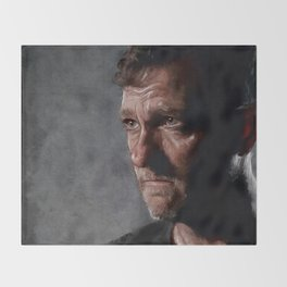 Richard From The Kingdom - Bury Me Here - The Walking Dead Throw Blanket