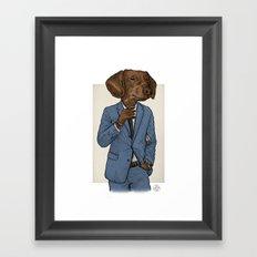 Good Morning, Dapper Doge Framed Art Print