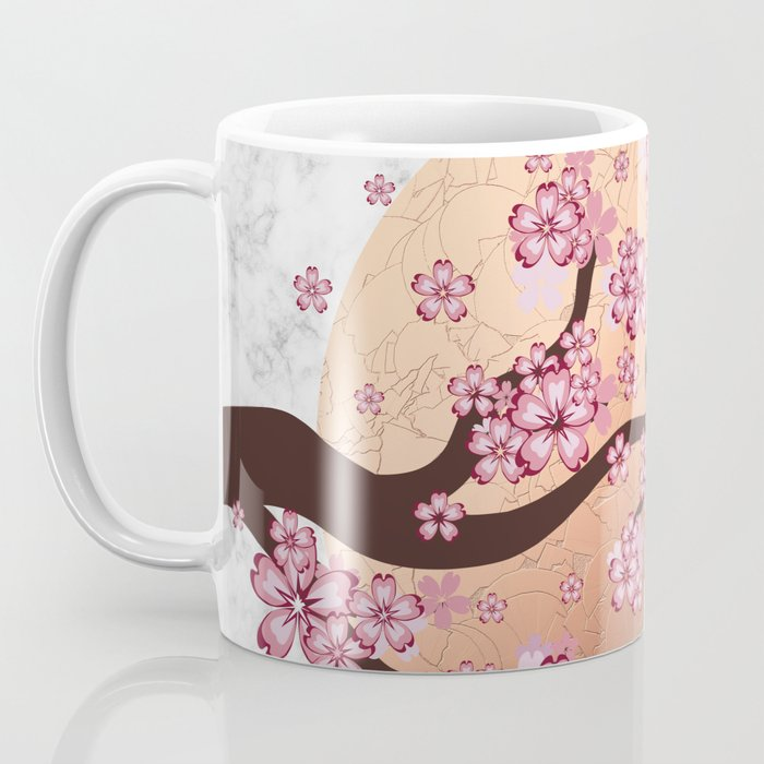 Blooming Sakura Branch on marble Coffee Mug