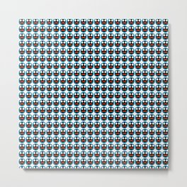 Ghastly Graphic Pattern Face Metal Print