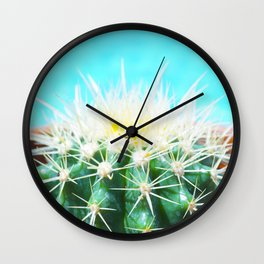 Poolside Cactus Wall Clock