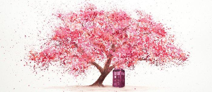 Tardis Tree Art Blossom Coffee Mug