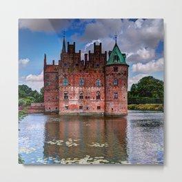 Egeskov castle, Denmark Metal Print