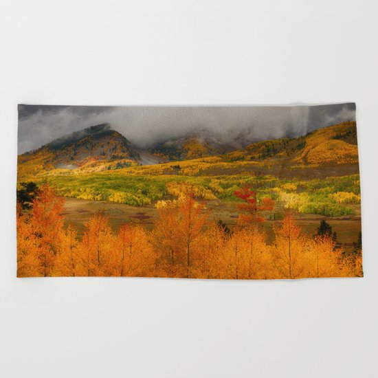 Colorado Fall Colors Beach Towel