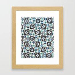 Arabic Tiles in Lisbon Portugal Framed Art Print
