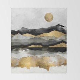 Golden Spring Moon Throw Blanket