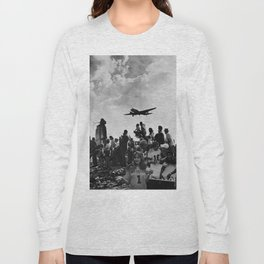 World War II Tailgate Party - Vintage Collage Long Sleeve T-shirt