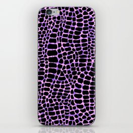 Neon crocodile/alligator skin iPhone Skin