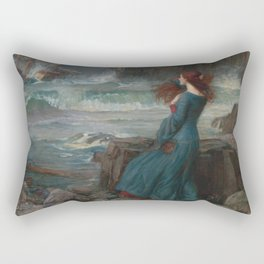 John William Waterhouse - Miranda Rectangular Pillow