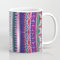 folk Mugs featuring FOLK by Vasare Nar