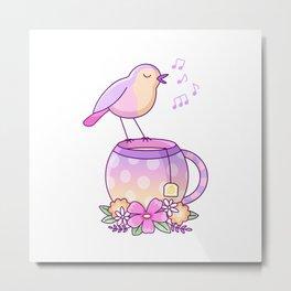 Tea Bird Metal Print