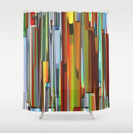 Abstract Composition 703 Shower Curtain