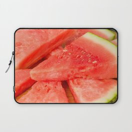 Slices of watermelon on a wood cutting board Laptop Sleeve