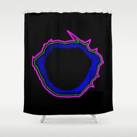 jaws Shower Curtains featuring Jaws by Travis Pedroza