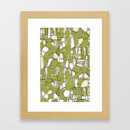 BROKEN POP citron Framed Art Print