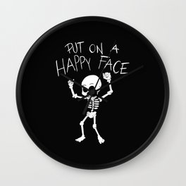DANCING SKELETON PUT ON A HAPPY FACE Wall Clock