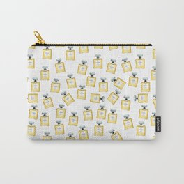 Yellow Perfume Bottle Carry-All Pouch