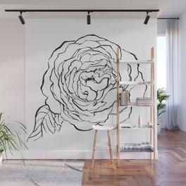 Rose Ink Drawing Wall Mural
