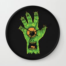 Finger Monsters Wall Clock