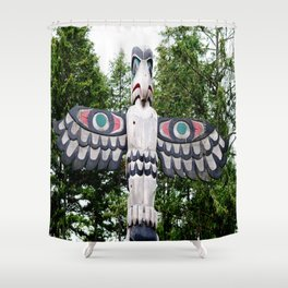 Alaskan Totem - Eagle Shower Curtain