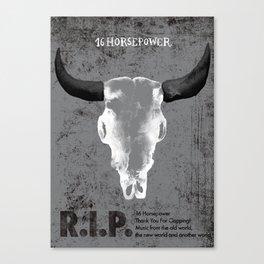 16 Horsepower Gigposter Canvas Print