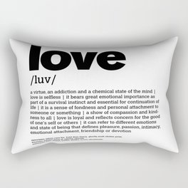 Def. LOVE b/w Rectangular Pillow