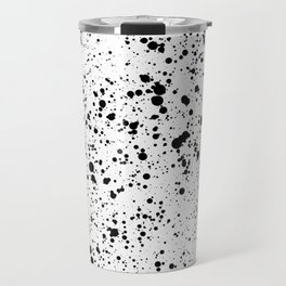 black paint splatter Travel Mug
