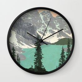 Moraine Lake Poster Wall Clock