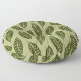 ever green foliage Floor Pillow