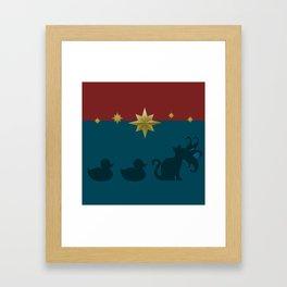 Duck, Duck, Goose! Framed Art Print