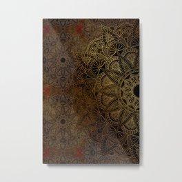 Mandala - Bronze Metal Print