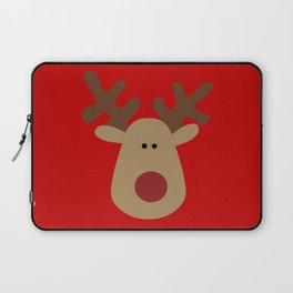Christmas Reindeer-Red Laptop Sleeve