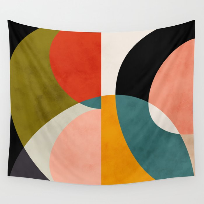 geometry shapes 3 Wall Tapestry
