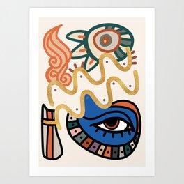 Aquarius - Abstract Zodiac Sign Art Print