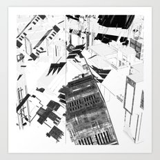 Chaos city Art Print