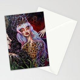 Hive Sprits painting by Nefertara Stationery Cards