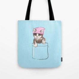 Little Cat in Pocket Tote Bag