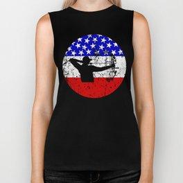 American Flag Bow Hunting Biker Tank
