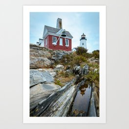 PEMAQUID POINT LIGHTHOUSE MAINE NEW ENGLAND PHOTOGRAPHY Art Print