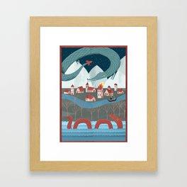 Mythical Monsters Framed Art Print