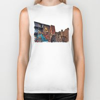manchester Biker Tanks featuring Colourful MANchester by inkedsandra
