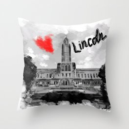 I love Lincoln Throw Pillow