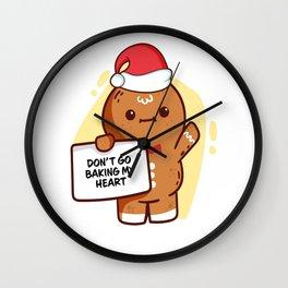 Gingerbread Matching Group Don't Go Baking My Heart Wall Clock