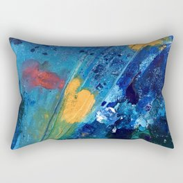Views of Rainbow Coral, Tiny World Collection Rectangular Pillow