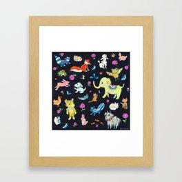 Colorful animals Framed Art Print
