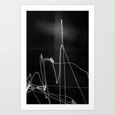 Fade Cross Art Print